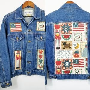 DENIM JACKET Custom Made Teachers Size Small